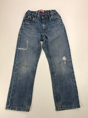 Boys Levi's Skinny Fit Light Blue Wash Distressed Look Jeans Zip Fly Casual 5Yr