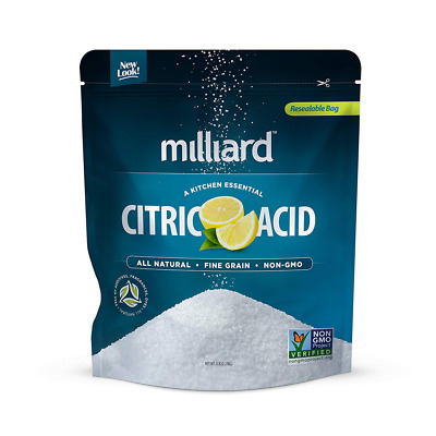 Milliard Citric Acid Powder Pure Food Grade Sour Taste for Bath Bomb Cleaner 5lb