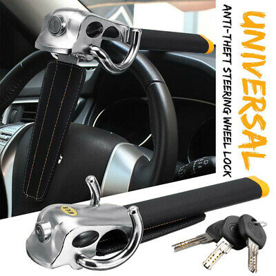 Anti Theft Lock Car Vehicle Top Mount Steering Wheel Security Airbag + 3 Keys