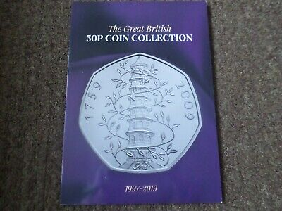 The Great British 50p Coin Collection 1997-2019