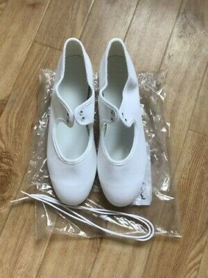 Canvas White Tap Shoes NEW Size UK 4