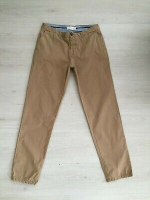 Mens River Island 100% Cotton Chino Style Trousers W34 L32 R