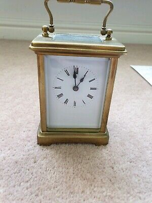 Antique French 8 day Bayard Duverdrey Bloquel brass carriage clock circa 1905