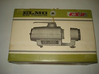 Vintage Elmo Slide Projector Cs-Ii Complete In Original Box Free Postage