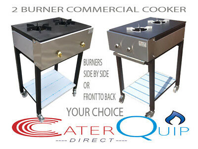 2 Burner Cooker Heavy Duty Curry Cooker For Commercial Use