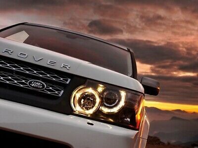 Land Rover Macro Front Truck Jeep Sunset Evening Car Wall Print POSTER FR