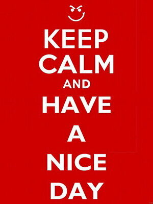 Keep Calm and Have a Nice Day Wall Print POSTER AU