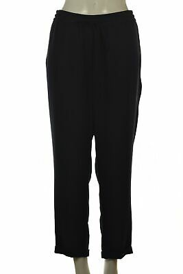J Crew Womens Pants Size 12 Navy Blue Tapered Casual Slacks Cuffed Trousers