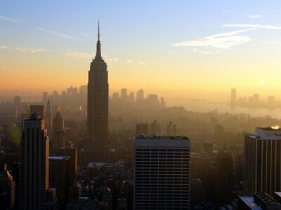 New York Sunset Empire State Building Wall Print POSTER AU
