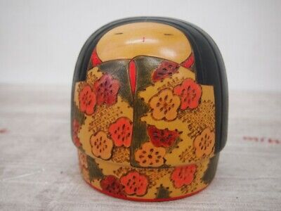 "KOKESHI Doll ""Tomidokoro Fumio"" 富所ふみを Japanese traditional crafts 12cm"