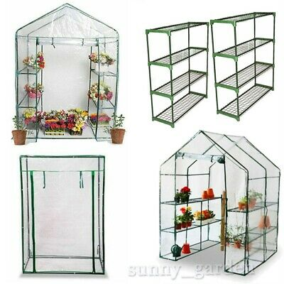 Walk In Greenhouse PVC Plastic Garden Grow House 4 or 8 Shelves Tomato Grow Bag