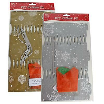 Christmas - Make your Own Cracker Kit - Pack of 6 - Choose Colour