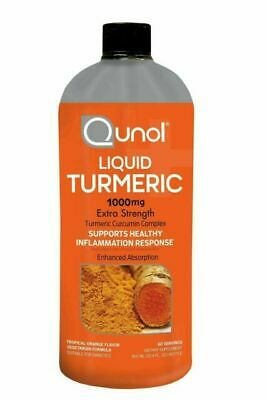 Qunol Liquid Turmeric Curcumin Complex 1000mg Extra Strength 60 Servings 09/2019