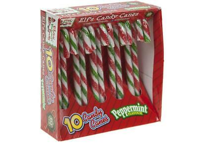 10PCE 10g ELF COL CANDY CANE PROPS ON THE SHELF IDEAS TOY CHRISTMAS DECORATION