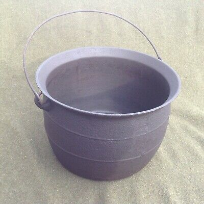 Restored 1800's Antique Cast Iron Witches Cauldron Kettle Gate Marked #9 - 3 GAL
