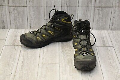 free shipping 71972 930a6 SALOMON X ULTRA 3 Mid GTX Hiking Shoes - Men's Size 12.5 - Green