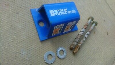 Oxford Brute Force Motor Bike Sold Secure Ground Anchor With Fittings