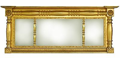 Antique Overmantel Mirror, American circa 1825