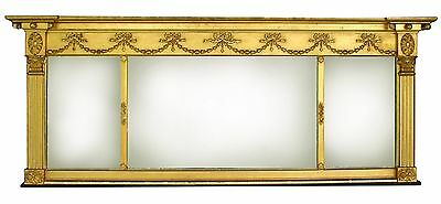 Antique Gold Leaf Overmantel Mirror