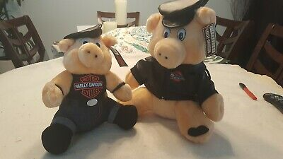 Vintage 1993 Harley Davidson Collectible Plush Big And Small H. D. Hogs