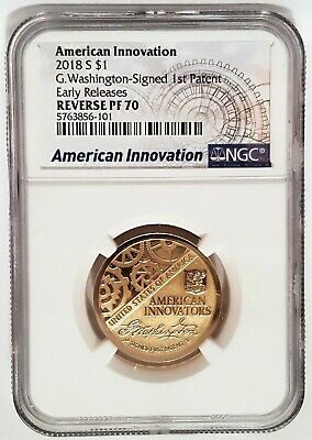 2018 D Innovation Dollar Washington 1st Patent $1 NGC MS67 FIRST RELEASES