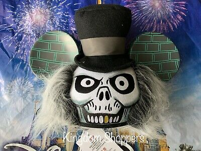 Disney Parks The Haunted Mansion Hatbox Ghost Ear Hat Mickey New With Tags