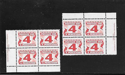 CANADA CENTENNIAL FOURTH POSTAGE DUE ISSUE 4 CENTS UR +LL #  J-31a