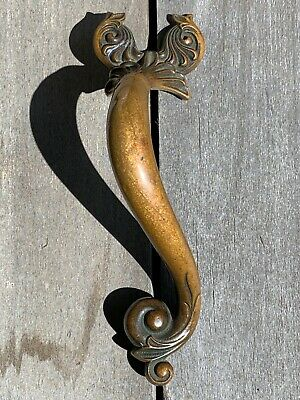 Vintage Old Art Nouveau Door Pull, from Europe