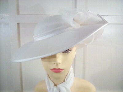 vintage cream wedding occasion races hat by Albert  Headways