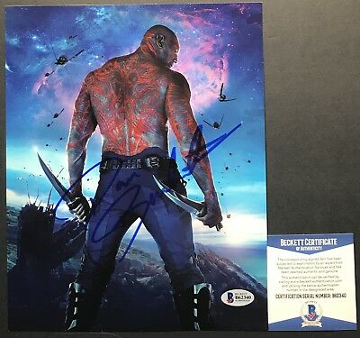 FUNNY!!! Dave Bautista DRAX Signed GUARDIANS OF THE GALAXY 8x10 #1 photo BAS