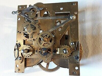 Antique  wall clock movement for spare parts