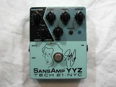 Used Tech 21 Geddy Lee Signature SansAmp YYZ Bass Pre-amp Pedal
