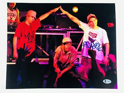 ALL 3!!! MCA AD ROCK MIKE D Signed BEASTIE BOYS 11x14 Photo Beckett BAS LOA