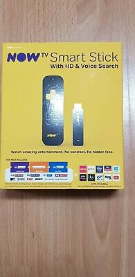 NOW TV Smart Stick with HD & Voice Search No Contract Entertainment TV