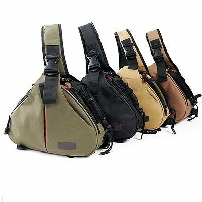 New Canon Nikon Sony Camera Backpack Sling Shoulder Bag Case Shockproof DSLR SLR