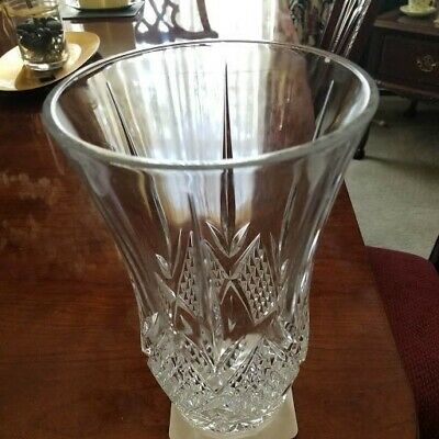 Tall French Vintage  Heavy Leaded Crystal Vase Cristal d'Arques Made in France