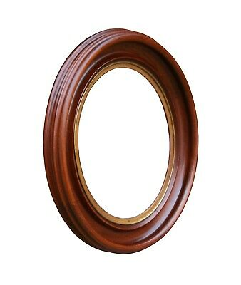 """Antique Victorian Oval Walnut Picture Frame, 8"""" X 10"""" Rabbet"""