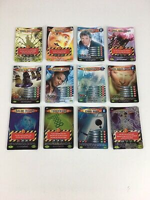 BBC Doctor Who Sci Fi Battles In Time Annihilator 12 Rare Trading Cards Bundle