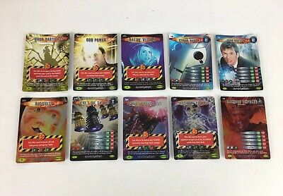 BBC Doctor Who Battles In Time Sci Fi Trading Cards Game 10 Rare Cards Bundle