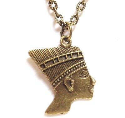 """PHARAOH_Bronze Pendant on 18"""" Chain Necklace_Egyptian Pyramid Tut Ancient_160N"""