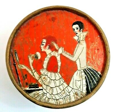 "Antique Richard Hudnut ""Three Flowers Face Powder"" Box Compact. SEALED!"
