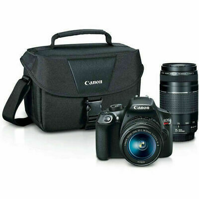 Canon EOS Rebel T6 DSLR Camera with 18-55mm and 75-300mm Lenses Premium Kit