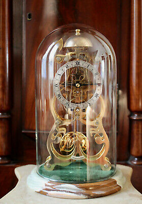 A Stunning Thwaites & Reed Skeleton Clock, 'Athanase', Gold Plated, Striking GWO