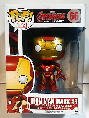 Funko Pop! Marvel - Avengers Age of Ultron - Iron Man Mark 43 #66 Vaulted Damage