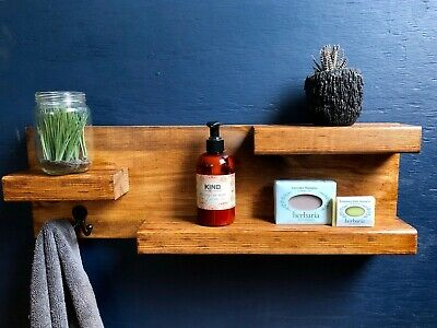 HAND CRAFTED SMALL WOOD SHELF 2ft