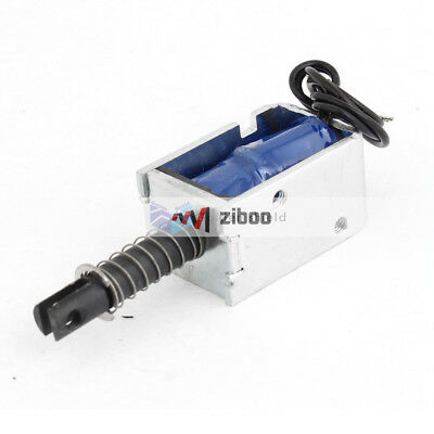 JF-0730B 12VDC 300mA Linear Pull Type Open Frame Solenoid Electromagn.