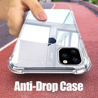 For iPhone 11 Pro Max XS XR X 8 7 6 Plus Shockproof Transparent  Soft Case Cover