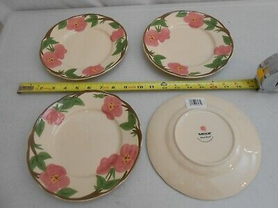 Set 4 New With Tags Franciscan Desert Rose 8 Inch Desert Plates Earthenware Nwt
