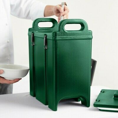 Cambro 350LCD519 Camtainer 3.375 Gal Green Insulated Soup Carrier FREE SHIPPING!