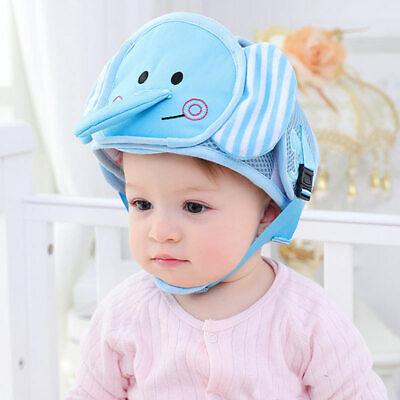 SX Infant Baby Toddler Safety Head Protection Helmet Kids Soft Hat Walking Crawl